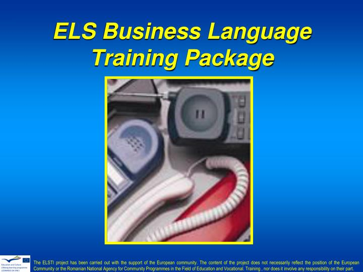 ELS Business Language Training Package