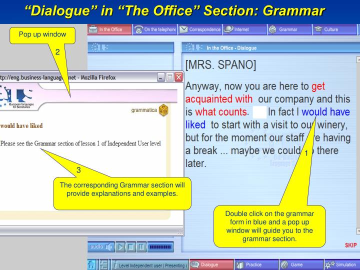 """Dialogue"" in ""The Office"" Section: Grammar"