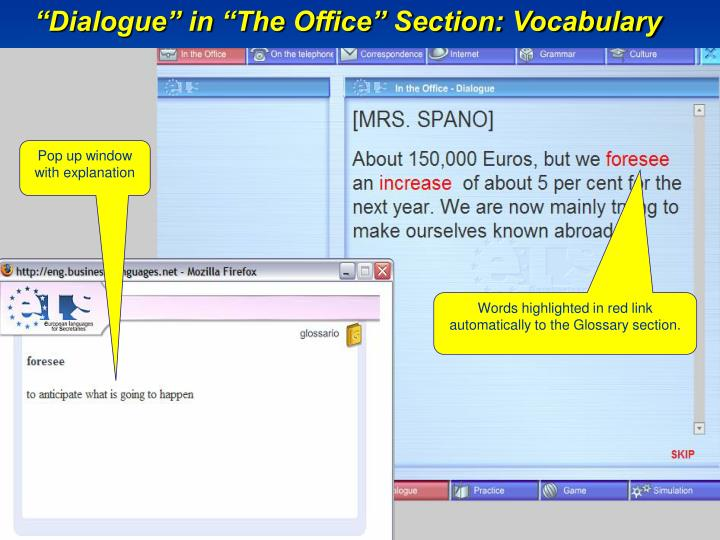 """Dialogue"" in ""The Office"" Section: Vocabulary"