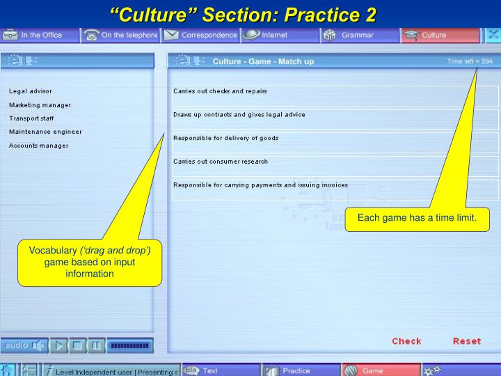 """Culture"" Section: Practice 2"