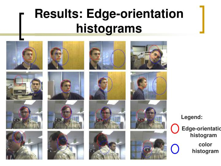 Results: Edge-orientation histograms