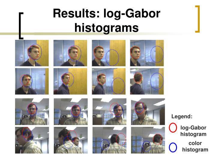 Results: log-Gabor histograms