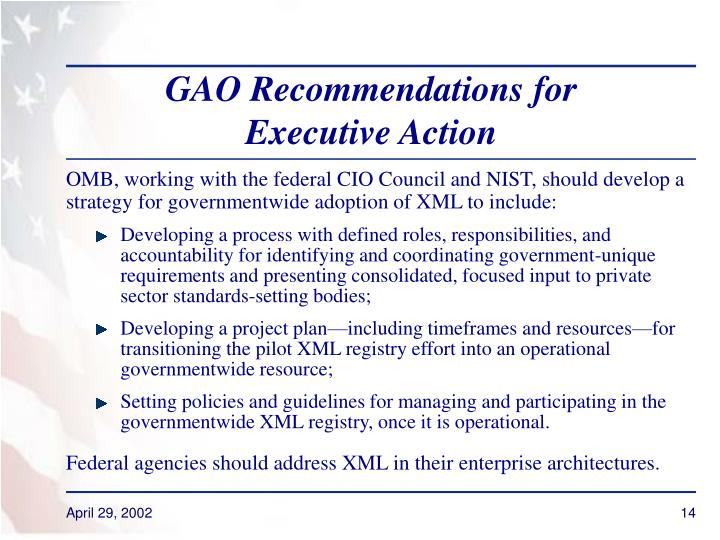GAO Recommendations for