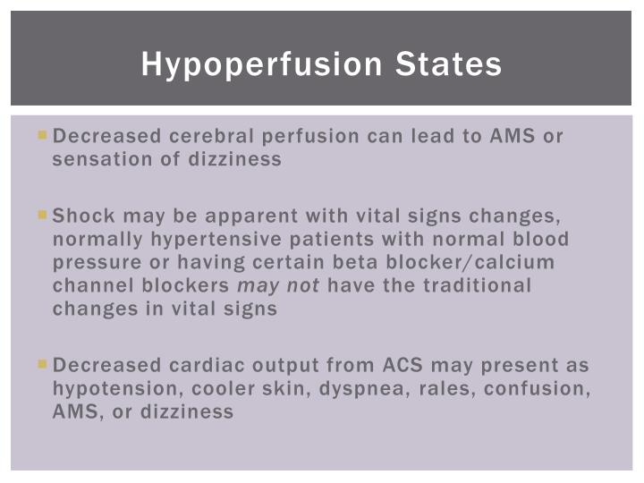 Hypoperfusion