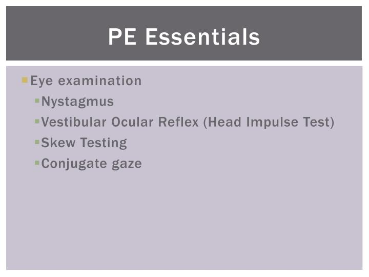 PE Essentials