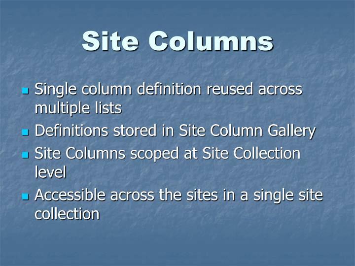Site Columns