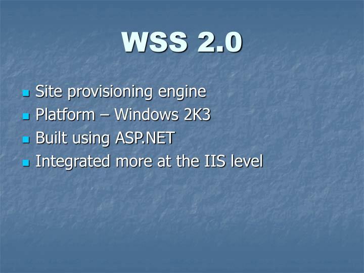 WSS 2.0