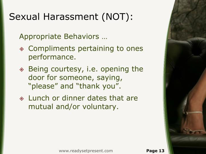 Sexual Harassment (NOT):