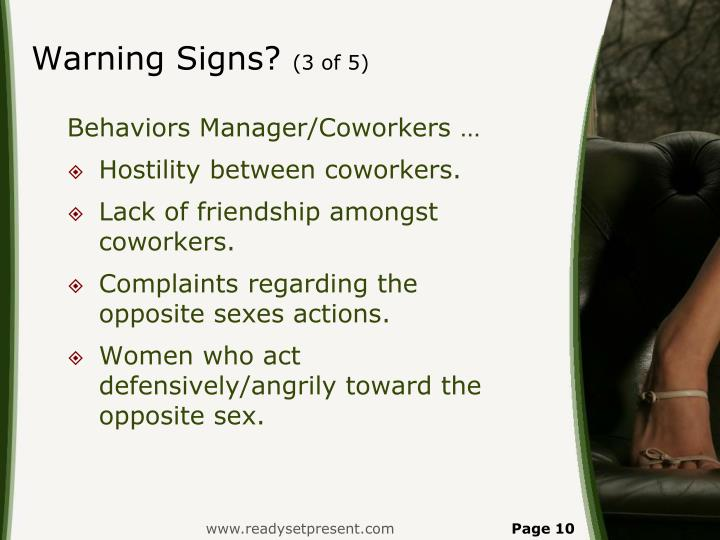 Warning Signs?