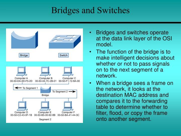 Bridges and Switches