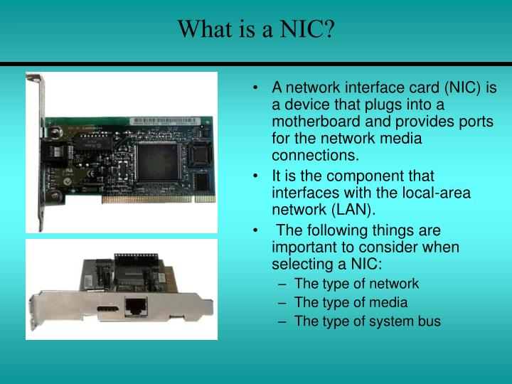 What is a NIC?