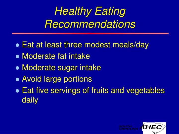 Healthy Eating Recommendations