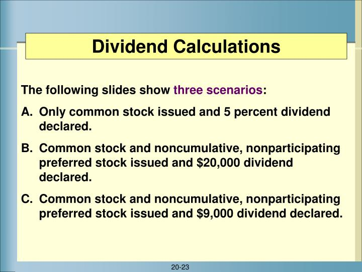 Dividend Calculations