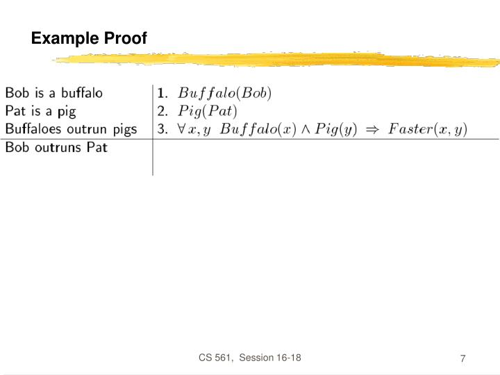 Example Proof
