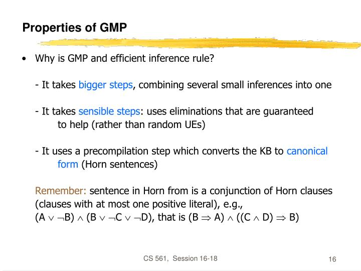 Properties of GMP