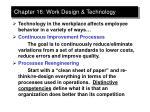 chapter 16 work design technology