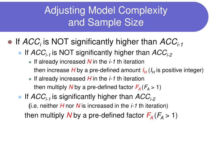 Adjusting Model Complexity