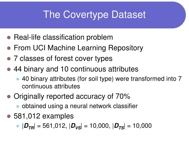 The Covertype Dataset