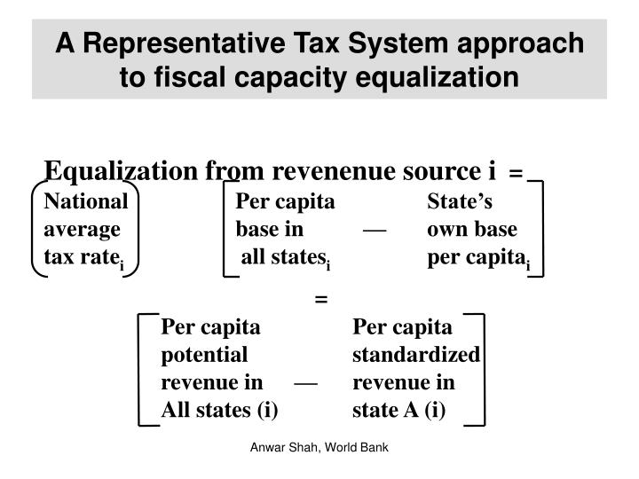 A Representative Tax System approach to fiscal capacity equalization