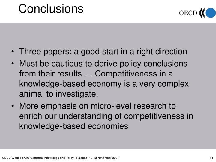 Three papers: a good start in a right direction