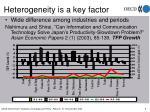 heterogeneity is a key factor