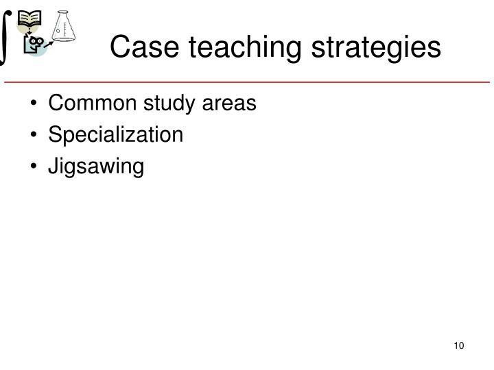 Case teaching strategies