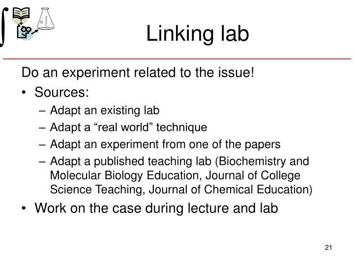 Linking lab
