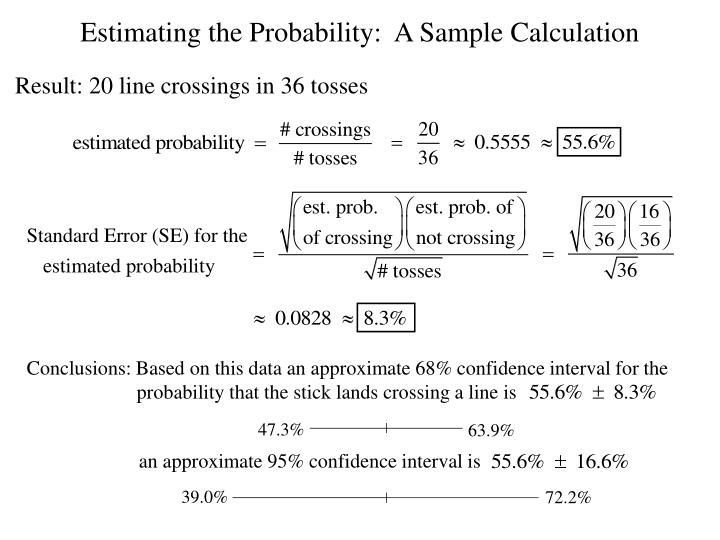 Conclusions: Based on this data an approximate 68% confidence interval for the