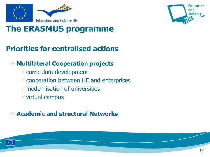 The ERASMUS programme