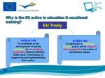 why is the eu active in education vocational training
