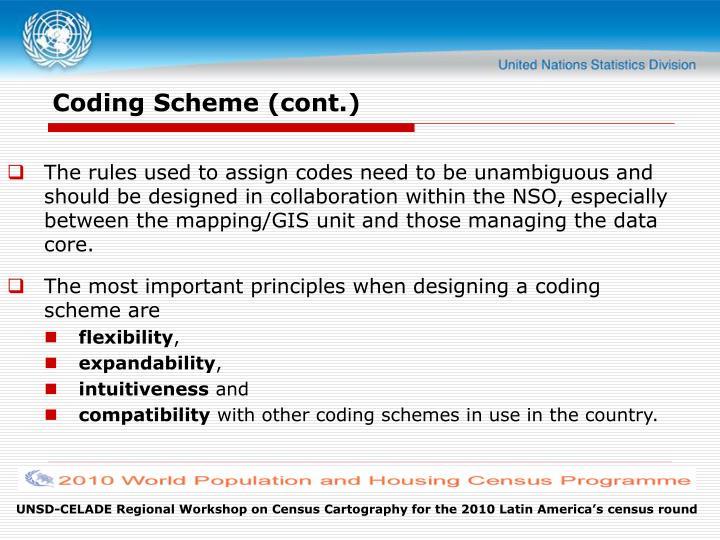 Coding Scheme (cont.)