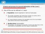 criteria and process for ground delineation of eas cont