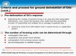criteria and process for ground delineation of eas cont1