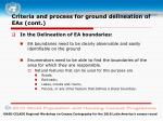 criteria and process for ground delineation of eas cont2