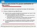 criteria and process for ground delineation of eas cont4