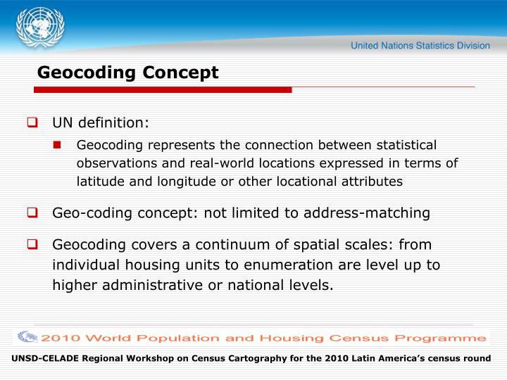 Geocoding Concept
