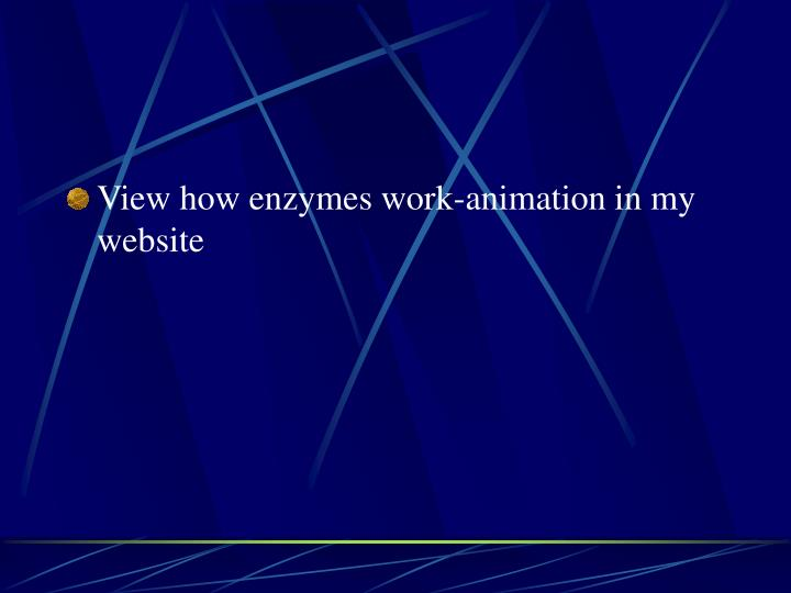 View how enzymes work-animation in my website