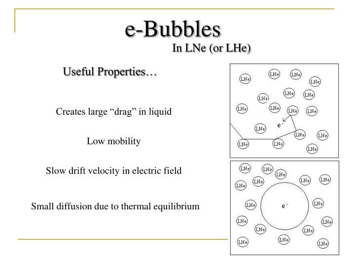e-Bubbles