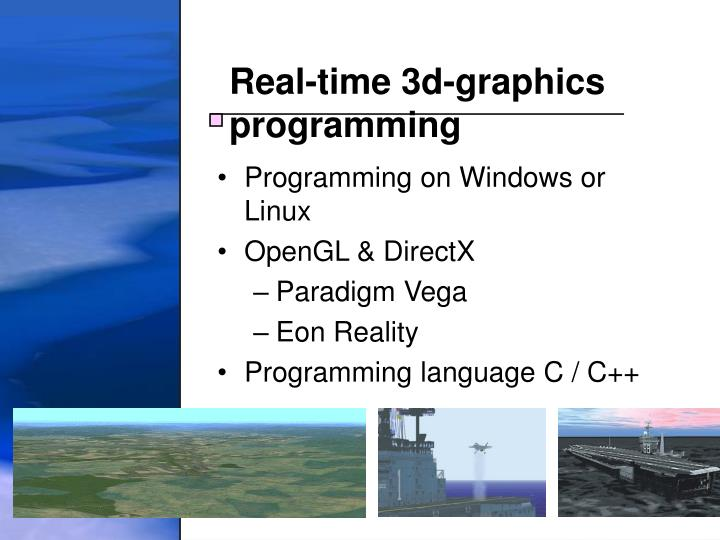 Real-time 3d-graphics programming