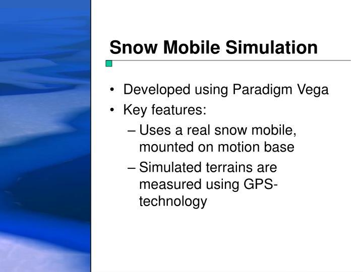 Snow Mobile Simulation