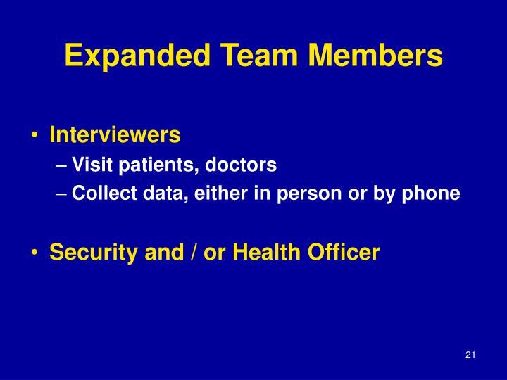 Expanded Team Members