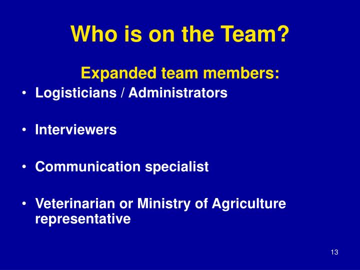 Who is on the Team?