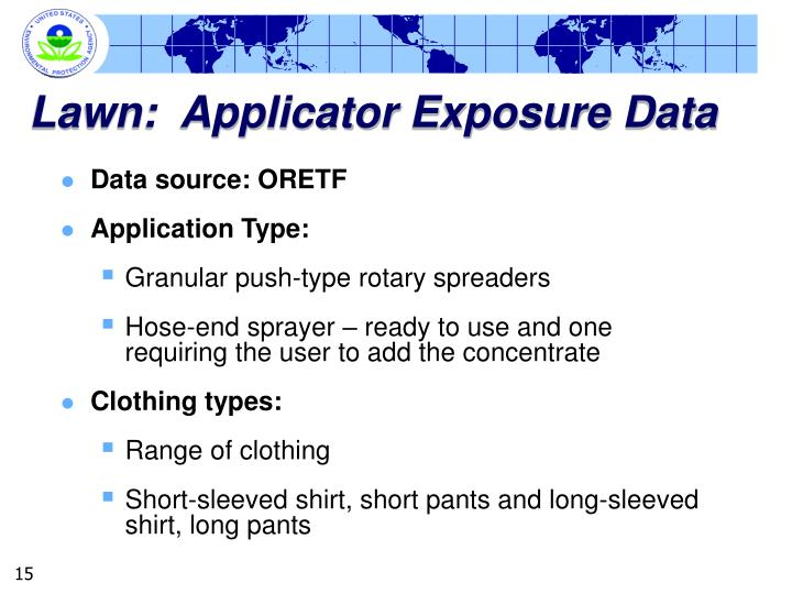 Lawn:  Applicator Exposure Data