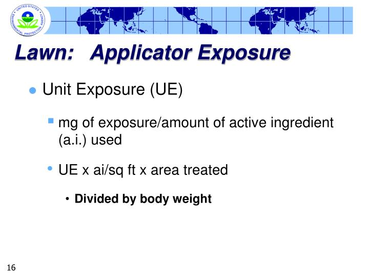 Lawn:   Applicator Exposure