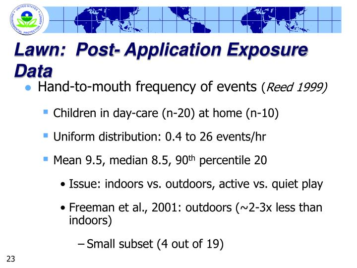 Lawn:  Post- Application Exposure Data