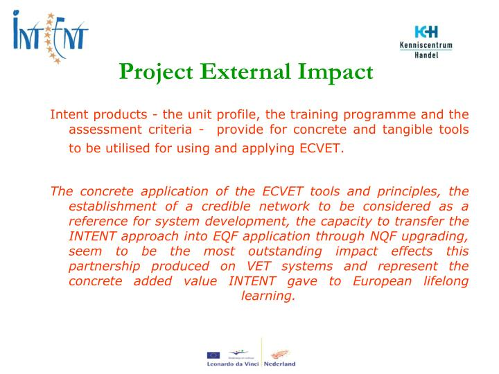 Project External Impact