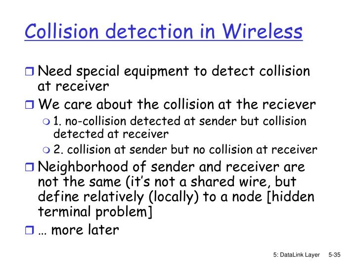 Collision detection in Wireless