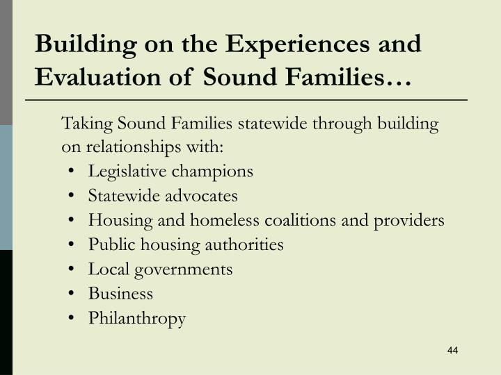 Building on the Experiences and Evaluation of Sound Families…