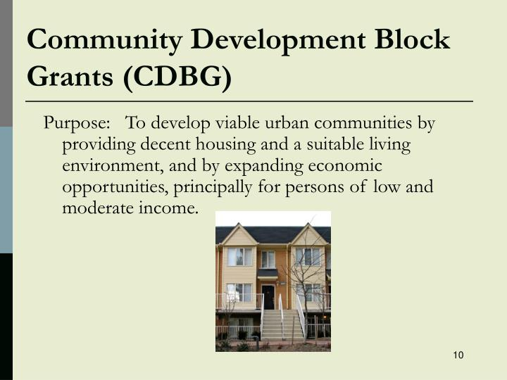 Community Development Block Grants (CDBG)
