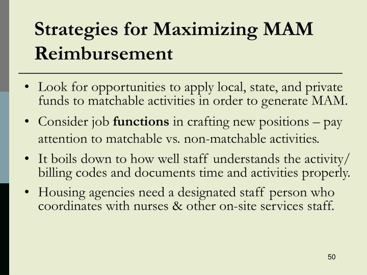 Strategies for Maximizing MAM Reimbursement